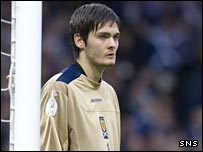 Hearts and Scotland goalkeeper Craig Gordon