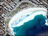 Bondi Beach on Wikimapia