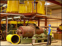 Galantas goldmine processing machinery