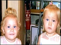 The picture of Molly and Sophie which alerted the family
