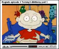 Rugrats screenshot on YouTube
