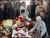 Похороны Анны Политковской