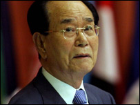 North Korea's second most powerful leader Kim Yong-nam
