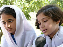 School children in Pakistani-administered Kashmir