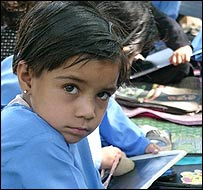 School child in Pakistani-administered Kashmir