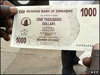 1,000 Zimbabwean dollar note