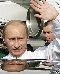 Russian President Vladimir Putin in Dresden