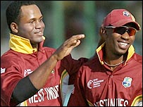 Marlon Samuels and Dwayne Bravo profited from the Tigers' poor shot selection