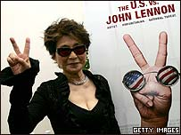 Yoko Ono at the launch of The US vs John Lennon