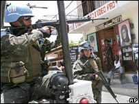 UN peacekeepers in Port-au-Prince