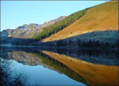 Llyn Crafnant in Snowdonia, as sent by Richard Hardman from the Conwy Valley