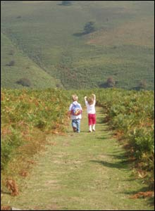 Cousins Jenny and Harvey from Abergavenny stroll the local Blorenge Mountain (Vincent Williams)