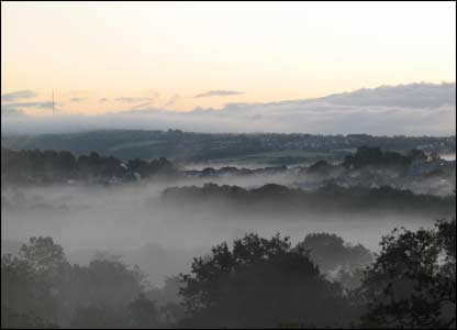 Alexander Storch took this picture of a foggy Gwendraeth Valley