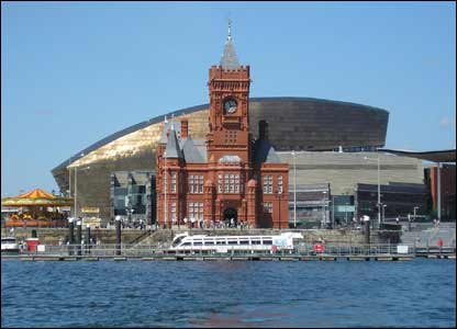 Pier Head Building in Cardiff Bay with the Wales Millennium Centre behind (Philip Mansell)