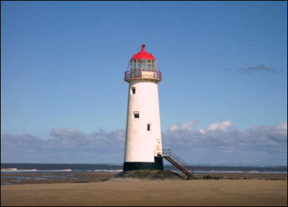 The Talacre Beach lighthouse in all its splendour (Graham Welburn of Prestatyn)