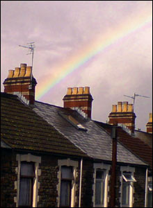 A rainbow over Cardiff rooftops from Mark Griffiths, Cardiff