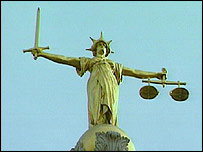 Scales of justice outside court
