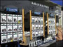 Estate agent's window in Richmond, London