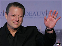 Gore has taken his global warming message around the world.