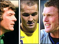 Pat Jennings, Paul Robinson and Dave Beasant