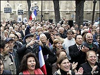 Armenians outside the French parliament