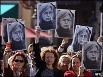 Митинг с требованием расследовать убийство