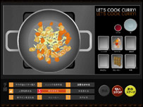 Screenshot of augmented cooking game