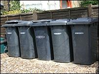 Rubbish bins in London
