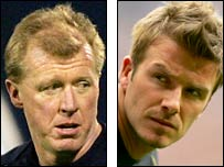 Steve McClaren (left) and David Beckham