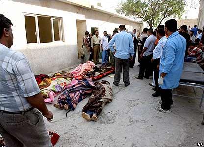 Bodies at al-Kindi hospital