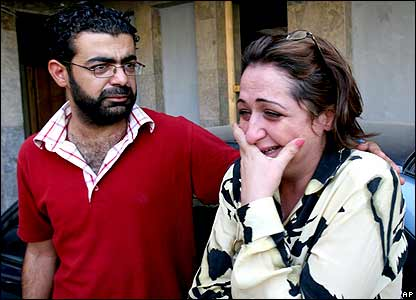 Mourners for al-Shaabiya staff