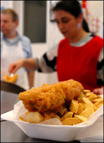 Fish and chips (Image: BBC)