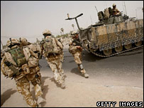 Soldiers from the Royal Anglian Battle Group in Basra