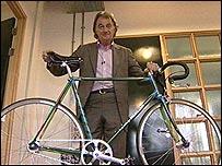 Paul Smith with a Mercian bike