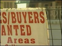 For sale sign at new South African housing development
