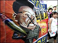 Protest against North Korea's nuclear programme
