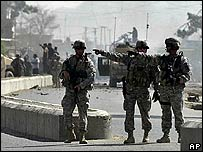 US troops in Kandahar at scene of suicide blast