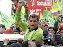 Rafael Correa, candidate