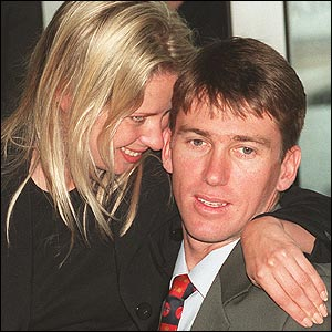Glenn McGrath with his then fiancee (now wife) Jane