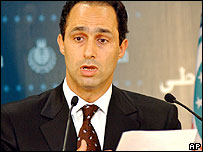 Gamal Mubarak, son of the president