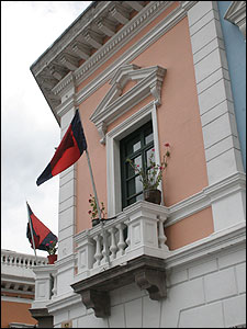 Fachada en la ciudad de Quito