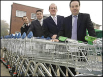 Wrexham councillors and officials with local MP Ian Lucas (R)