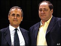 Giorgio Chinaglia (right) with Claudio Lotito