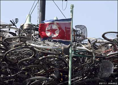 A North Korean ship with Japanese second-hand bikes