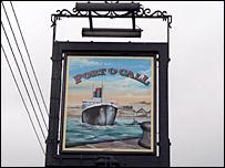 Port O'Call pub sign