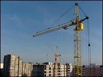 Crane in Kaliningrad