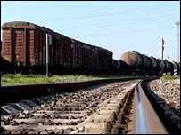 Freight trains in Kaliningrad