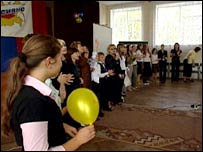 Pupils at School Number Seven in Kaliningrad
