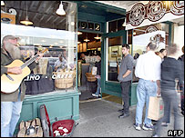 The first Starbucks, Seattle