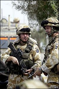 Soldados británicos en Irak.
